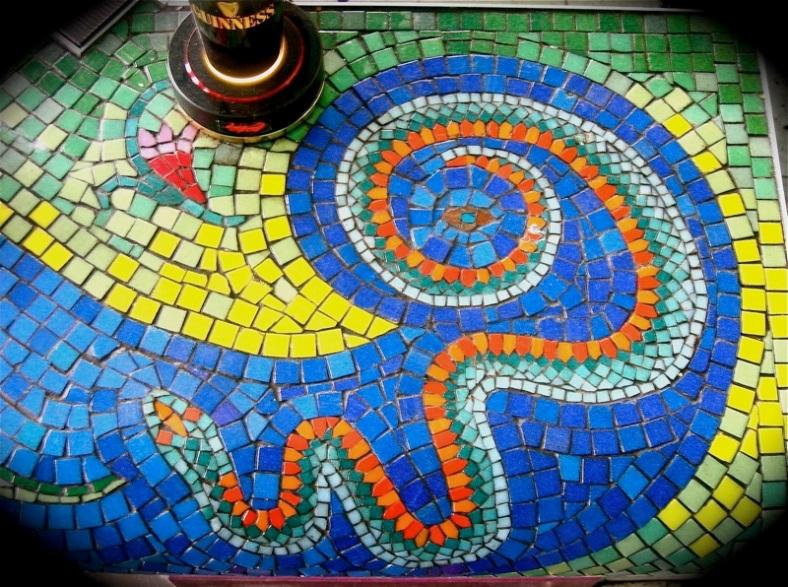 Reptiles Mosaic Bar