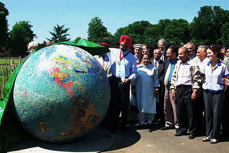 Sculptural Mosaic Globe