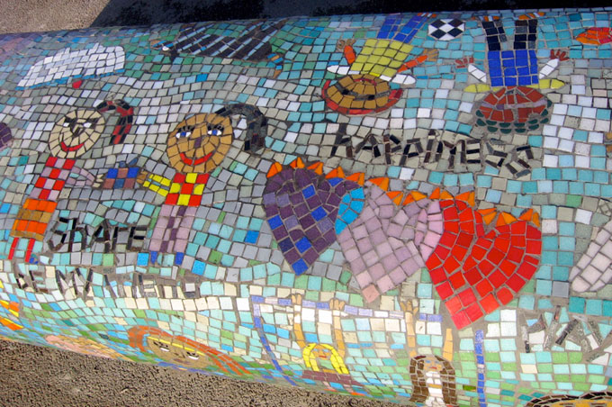 Mosaic Friendship Bench