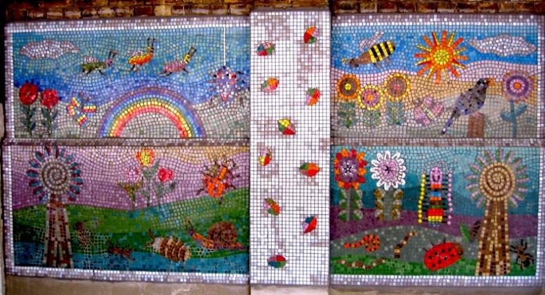 Ground floor garden mosaic