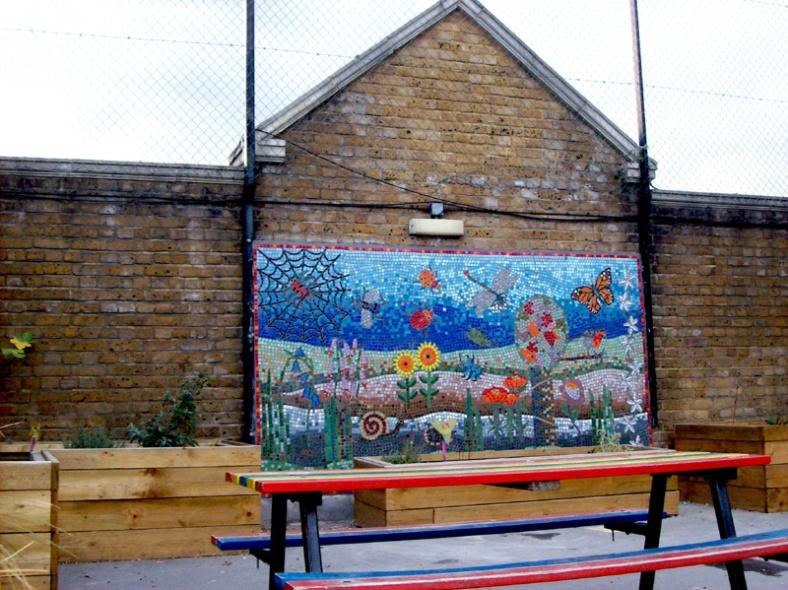 Roof garden mosaic