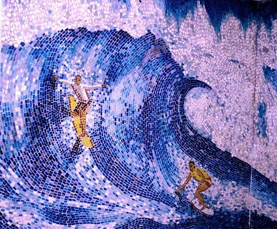 Surfers Bathroom Wall