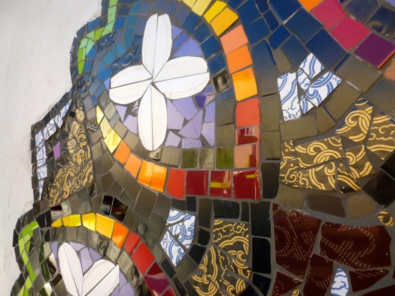 detail of ceramic tiled Mosaic mandala