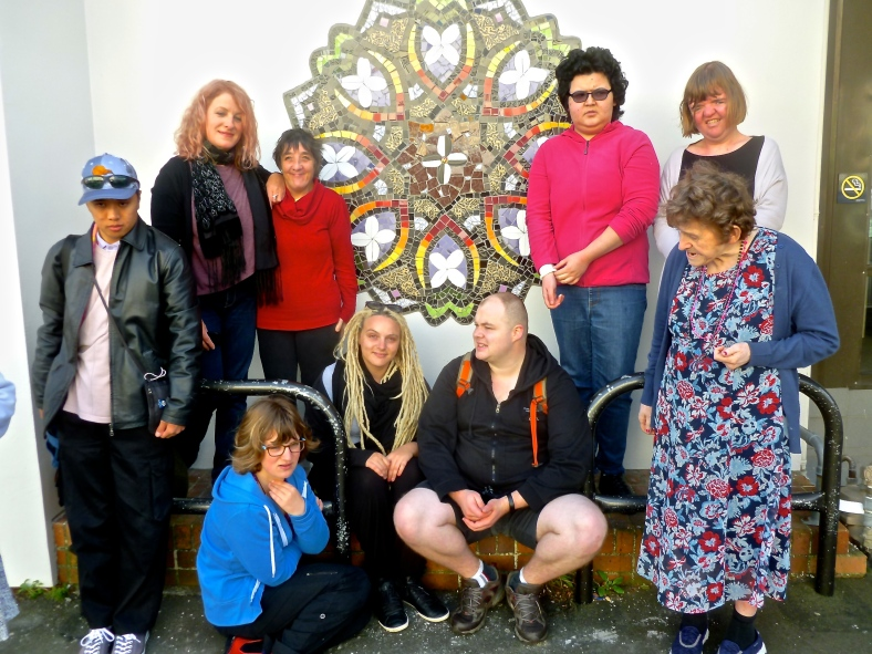 Staff and Clients from Alpha with the finished Mandala